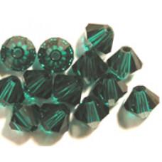 Swar Bi-cone Bead 3mm Emerald