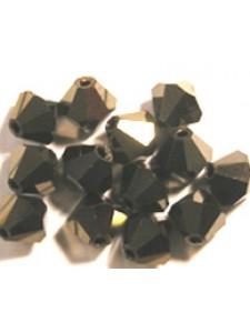 Swar Bi-cone Bead 3mm Jet Nut 2x