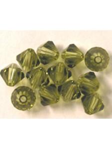 Swar Bi-cone Bead 3mm Khaki