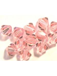 Swar Bi-cone Bead 3mm Light Rose