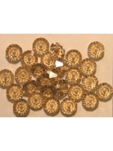 Swar Flat Bi-cone Bead 5mm Lt Col Topaz