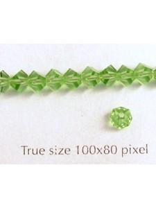 Swar Pentagon Bead 4.5mm Peridot