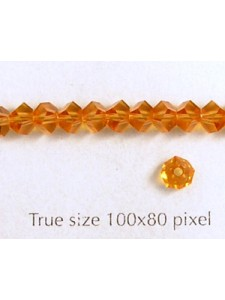 Swar Pentagon Bead 4.5mm Topaz