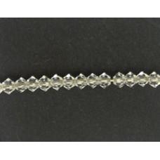 Swar Bi-cone Bead 3mm Clear