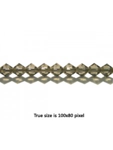 Swar Bi-cone Bead 4mm Black Diamond