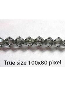 Swar Bicone Bead 5mm Black Diamond