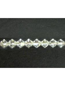 Swar Bi-cone Bead 5mm Silvershade