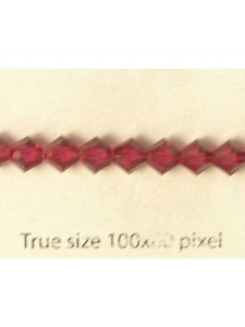 Swar Bi-cone Bead 5mm Ruby