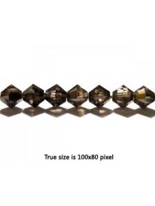Swar Bi-cone Bead 5mm Silver Night