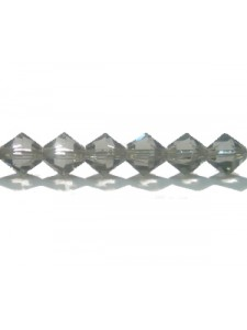 Swar Bi-cone Bead 6mm Black Diamond