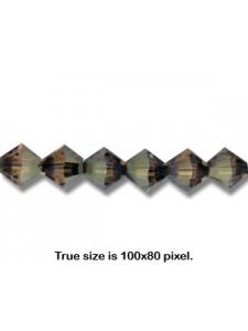 Swar Bi-cone Bead 8mm Bronze Shade