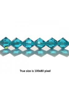 Swar Bi-cone Bead 6mm Blue Zircon