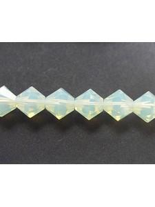 Swar Bi-cone Bead 8mm Chrysolite Opal