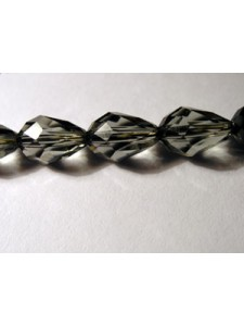 Swar Drop Bead Faceted 9x6mm Black Diamo