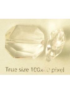 Swar Graphic Bead 18mm Clear