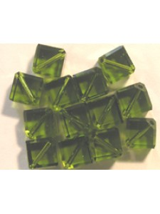Swar Diagonal Cube 4mm Olivine