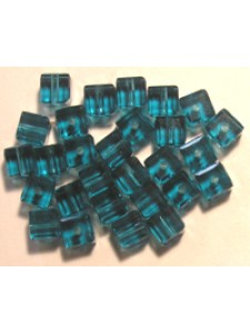 Swar Cube Bead 4mm Indicolite