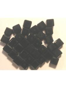 Swar Cube Bead 4mm Jet