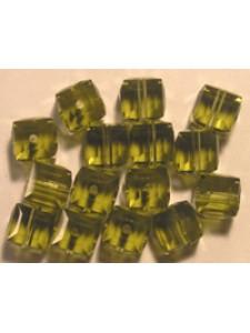 Swar Cube Bead 4mm Khaki