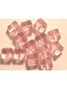 Swar Cube Bead 4mm Light Rose
