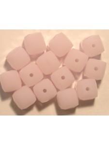 Swar Cube Bead 6mm Rose Alabaster