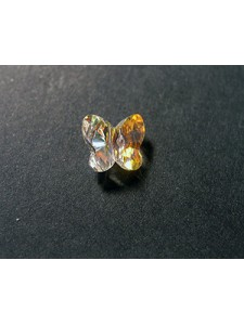 Swar Butterfly Bead 8mm Clear AB