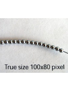 Swar Pearl 2mm Round Grey