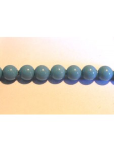 Swar Pearl  4mm Round Turquoise