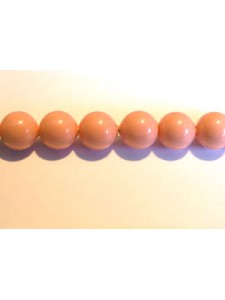 Swar Pearl  5mm Round Pink Coral