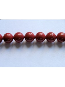 Swar Pearl  5mm Round Red Coral
