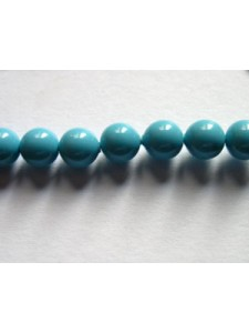 Swar Pearl  5mm Round Turquoise