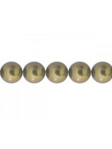 Swar Pearl 6mm Antique Brass