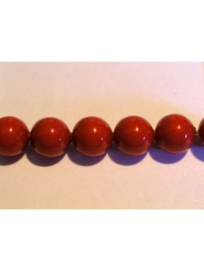 Swar Pearl  6mm Round Red Coral