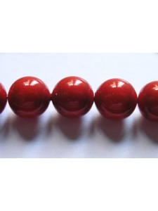 Swar Pearl  8mm Round Red Coral