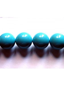 Swar Pearl  8mm Round Turquoise