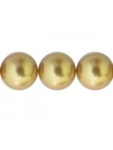 Swar Pearl 10mm Bright Gold