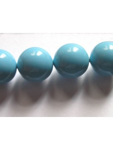 Swar Pearl  10mm Round Turquoise