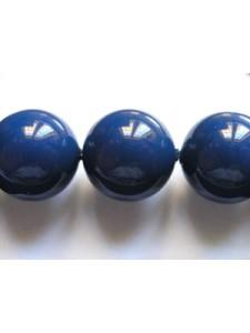 Swar Pearl  12mm Round Dark Lapis