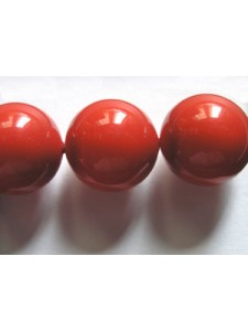 Swar Pearl  12mm Round Red Coral