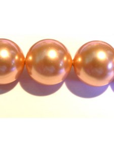 Swar Pearl  12mm Round Rose Peach