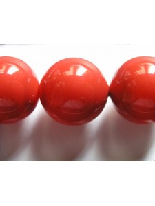 Swar Pearl  14mm Round Red Coral