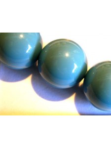 Swar Pearl  14mm Round Turquoise