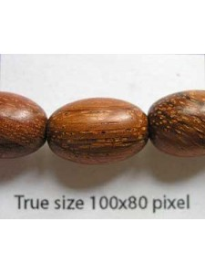 Bayong Wood 10x15mm Oval 16in strand