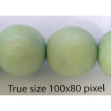 Wood Bead 15mm Round Pastel Green 16in
