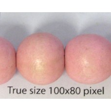 Wood Bead 15mm Round Pastel Rose 16in