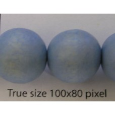 Wood Bead 15mm Round Skyblue 16in