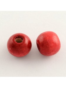 Wooden Bead 8.5-9.5mm Red -25gr  ~150