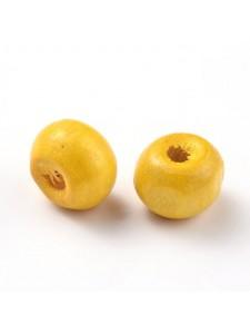 Wooden Bead 8.5-9.5mm Yellow -25gr  ~150