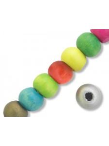 Wooden Beads 8mm (2mm H) Mix-50gram ~300