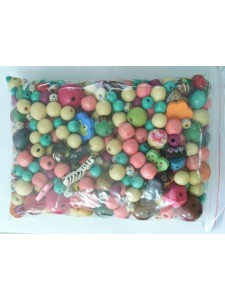 Wood Beads Mixed styles & Colours 50gram